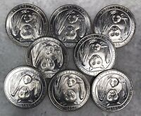 4 2020d Samoa Nat Unc BAT B//U 2020d Coins From Mint roll Sent! Park Quarters!