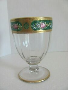 Westmoreland Glass Candy Jar Crystal #1700 Elaborate Hand Painted Decoration