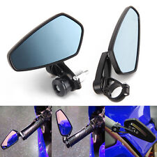 7/8'' Motorcycle Bar End Rear View Side Mirrors Universal Black Rearview Pair UK