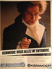 PUBLICITÉ DE PRESSE 1981 KENWOOD AMPLI SIGMA KA 1000 100 WATTS - ADVERTISING