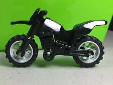 LEGO Dirt Bike / Motorcycle Black with Gray Rims Black Chassis City Town NEW