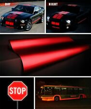 "Reflective red vinyl film decal roll 12"" x 48"" inch VViViD adhesive sticker DIY"