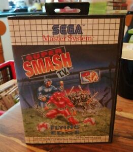 SEGA MASTER SYSTEM GAME SUPER SMASH TV 1992 GAME & CASE TESTED NICE CONDITION
