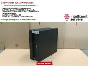 Dell T3610 Workstation E5-1620 V2 3.70GHz  16GB  500GB SSD 1TB HDD Quadro NVS300