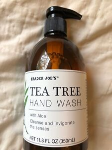 2 Pack Trader Joe's Tea Tree Hand Wash Soap Plant-Derived Cleanser 11.8 Ounces