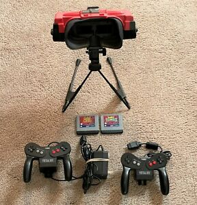 Nintendo VIRTUAL BOY with Stand,Controllers,Games,Partially Working Parts Repair