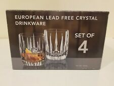 NIB 4 European Lead Free Crystal Drinkware Whiskey Glasses Made in Germany