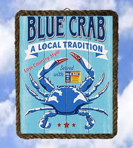 Coastal Beach 40 Ocean Sea Wall Signs Blue Crabs Local lalarry Vintage