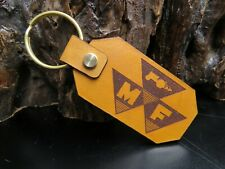 MASSEY FERGUSON tractor key chain Genuine leather key ring 1291