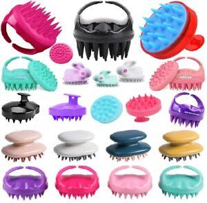 Soft-Shampoo Scalp Shower Body Washing Hair Massage Massager Brush Comb Silicone