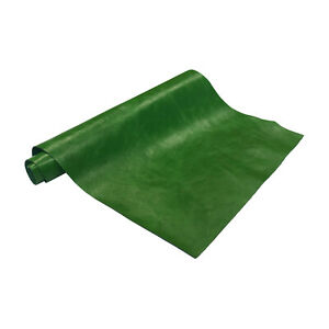 """Pre-Cut Green Cowhide Leather Project Piece 8"""" x 11"""" 3oz 1.2mm"""