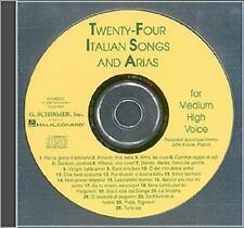 Twenty-Four Italian Songs and Arias - Medium High Voice (1997, CD)