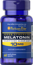 Puritan's Pride Night Time Sleep Aid Melatonin 10 mg, 60 Capsules