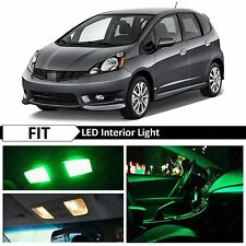 8x Green LED Lights Interior Package Kit 2009-2013 Honda Fit Jazz