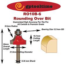 Round Over TCT Router Bit 9.5 mm Radius 6.35 mm Shank(2 Units)