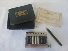 GOLDEN GEM Adding Machine in Original Box W/PAPERS AND STYLUS 1907 PATENT