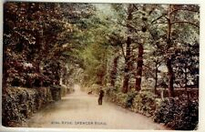 Y 242 ISLE OF WIGHT - EARLY POSTCARD OF SPENCER ROAD,RYDE,1914