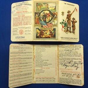 Boy Scout 1938 & 1939 Membership Cards Kenwood Wright Sea Scout Virginia