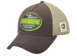 Genuine John Deere Brown Mesh Cap Quality Equipment Baseball Hat MCL201922011
