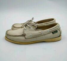 Boaters By Bass G.H. BASS & CO. vintage White Loafers Boat Shoes Men's Size 9.5