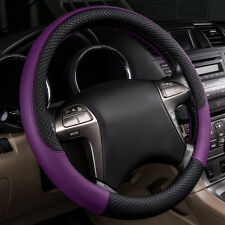 New Arrival Universal Fit Purple Steering Wheel Cover For Women Leather Fashion