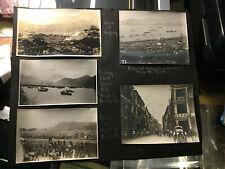 1920 CHINA  10 Vintage HONG KONG & CANTON Photos STREET SCENES Harbor RACE TRACK