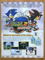 Sonic Adventure 2 Battle Gamecube 2002 Vintage Print Ad/Poster Official Art Rare