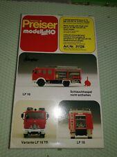 Preiser H0 31128 LF 16 Bausatz Feuerwehr MB 1019  AF Ziegler OVP