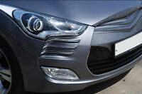 Front Head Lamp Sports Garnish Molding PAINTED White For 11 13 Hyundai Veloster