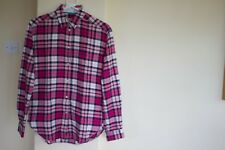 Womens Jack Wills Pink Flannel Check Shirt- Size UK 8
