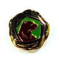 "Boy Scouts of America Wood Badge Bear Woggle Lapel Hat Pin Vintage 3/4"" x 3/4"""