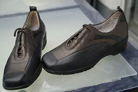 WALDLÄUFER Damen Comfort Schuhe Schnürschuhe Leder mit Einlagen Gr.7,5 G 41 NEU