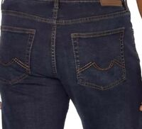 MEN'S URBAN STAR STRETCH RELAXED STRAIGHT LEG AUTHENTIC JEANS,DARK WASH BLUE NEW