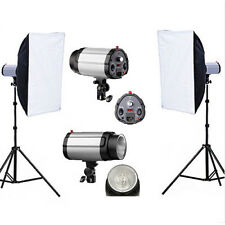 600W Photography Studio Strobe Flash Light Lighting Softbox Soft Box Stand Kit