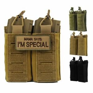 Tactical Double Magazine Pouch Military Molle Drop Bag Paintball Airsoft Holster