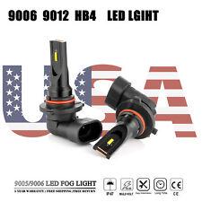 2x 9006 LED Fog Light Bulbs 160W CSP 6000K White Headlight Driving Lamp DRL Lamp