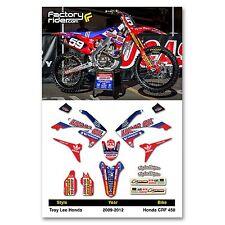 2009 - 2012 TLD HONDA CRF 450 Dirt Bike Graphics kit Motocross Graphics Decal