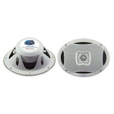 New Lanzar AQ69CXW Pair White 500 Watts 6''X9'' 2-Way Marine Boat Speakers