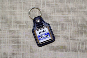 Ford Sierra Keyring - Leatherette & Chrome keyfob
