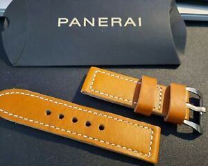 New Panerai Leather Strap Brown Buckle included 26 mm