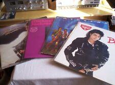 michael jackson lot de 4 album vinyl en 33 t