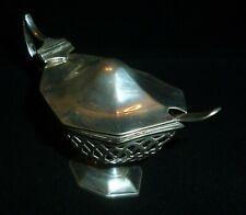 Antique Solid Silver Mustard Pot by JR Ltd, Birmingham 1898 & Silver Spoon