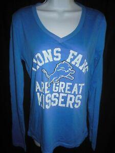 Detroit Lions NFL Women's L/S Shirt by Pink Victoria Secret