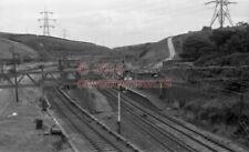 PHOTO  LNER DUNFORD BRIDGE RAILWAY STATION 1970'S VIEW BETWEEN GUIDE BRIDGE AND