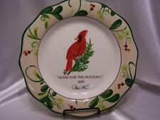 Paula Deen 2009 Signature Plate NEW Home for Holidays Christmas Collectors Plate