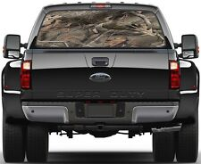 Hardwoods Camo Version 1 Painting Rear Window Graphic Decal for Truck Van Car