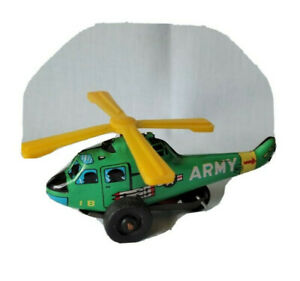 Vintage Small US ARMY Tin Helicopter Works Made In Japan