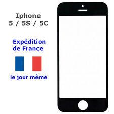 VITRE écran Apple IPHONE 5 / 5S / 5C Noir (avant - remplacement sur LCD Tactile)