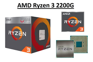 AMD Ryzen 3 2200G Quad Core Processor 3.5 - 3.7 GHz, Socket AM4, 65W CPU Only