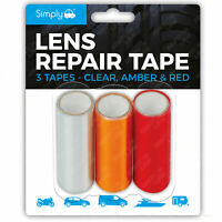 Simply Car Lense Repair Kit Red Amber Clear Tape Headlight Break Side Inidicator
